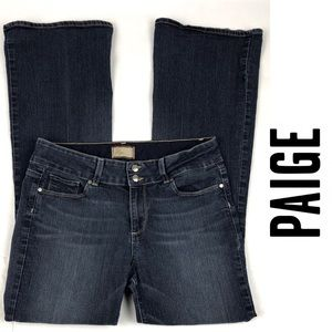 PAIGE Hidden Hills Petite Bootcut Dark Wash Jeans